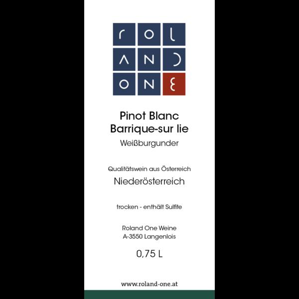 Roland One Binot Blanc Barrique