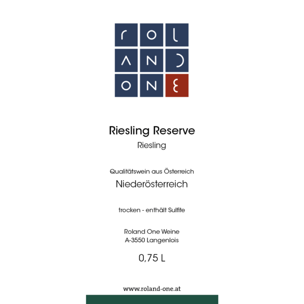 Roland One Riesling Reserve